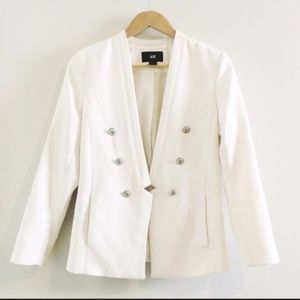 H&M Military Inspired Jacket in WHITE